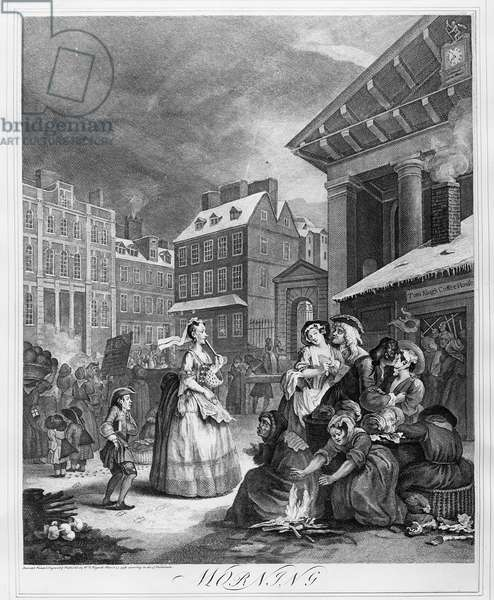 Times of the Day, Morning, 1738 (engraving)