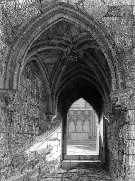 Durham Cathedral North End, 1843 (engraving)