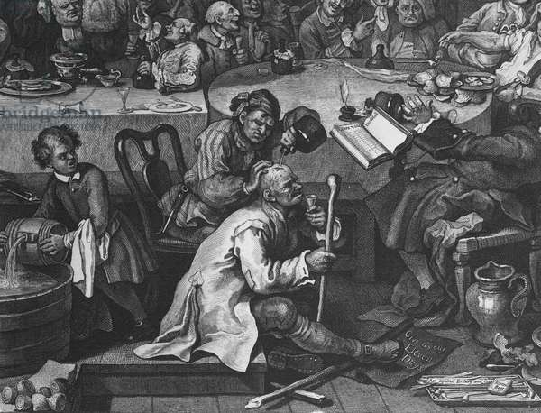 An Election Entertainment, 1755 (engraving) (detail of 396068)