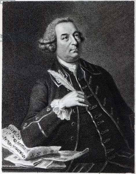 Portrait of John Christopher Smith (1712-95), musician and amanuensis of Handel (engraving)