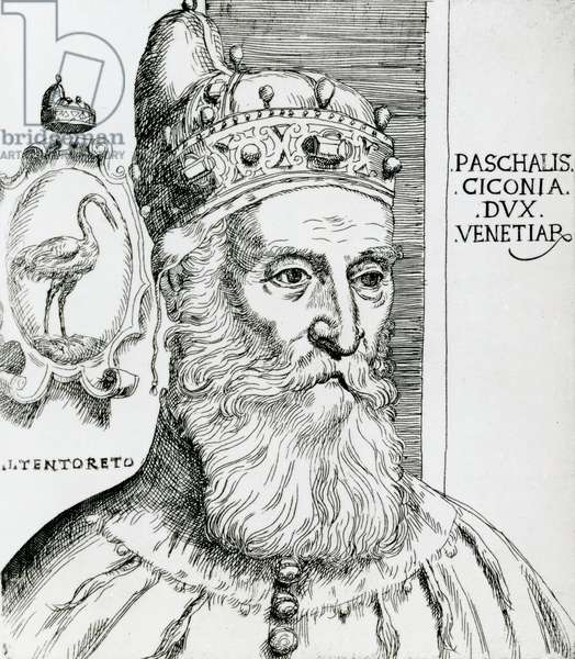 Pasquale Cicogna, Doge of Venice (1585–1595) (engraving)