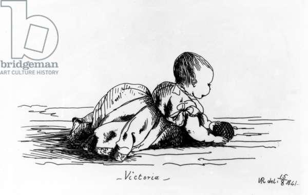 Victoria, The Princess Royal, 1841 (litho)