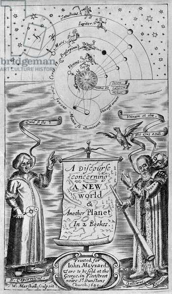 A discourse concerning a new world & another planet in 2 bookes, 1640 (frontispiece)