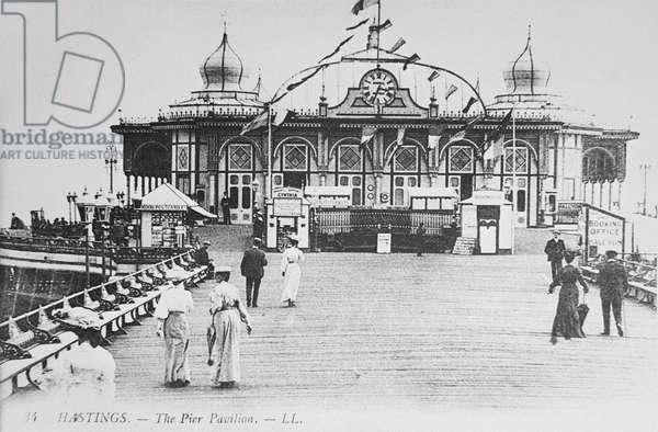The Pier Pavilion, Hastings, c.1890 (b/w photo)