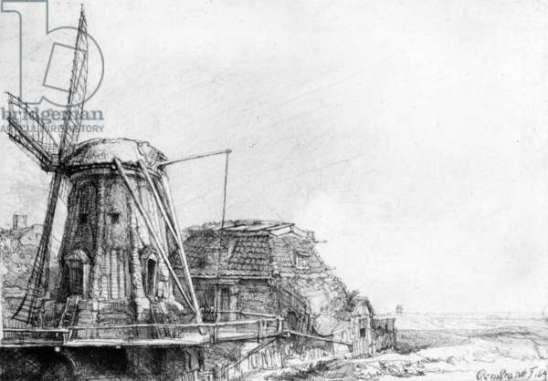 The Windmill, 1641 (etching)