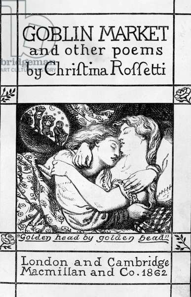 Title page for 'Goblin Market and Other Poems' by Christina Rossetti, published 1862 (engraving)
