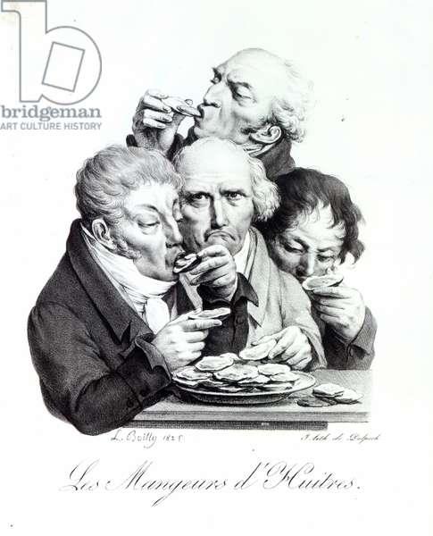 Les Mangeurs d'Huitres, 1825 (litho)