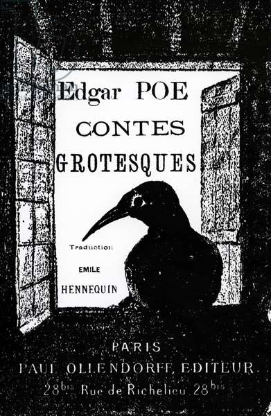 Cover to 'Contes Grotesques' by Edgar Allan Poe, published in 1882 (litho)