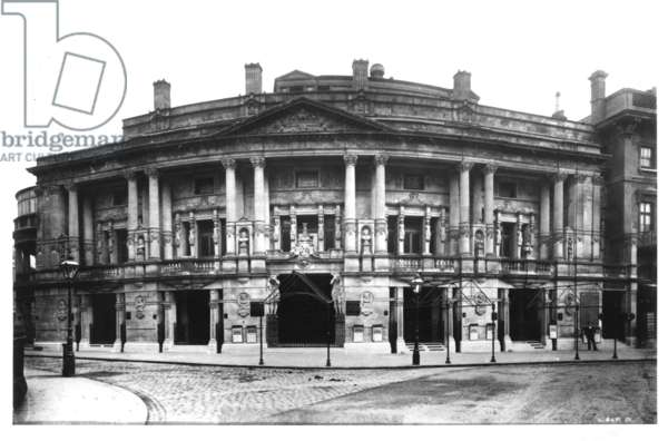 Queen's Hall in Langham Place, London, 1896 (b/w photo)