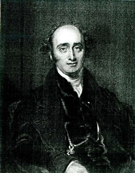 The Rt.Hon.John Wilson Croker,engraved by T.H Parry (engraving) (b/w photo)