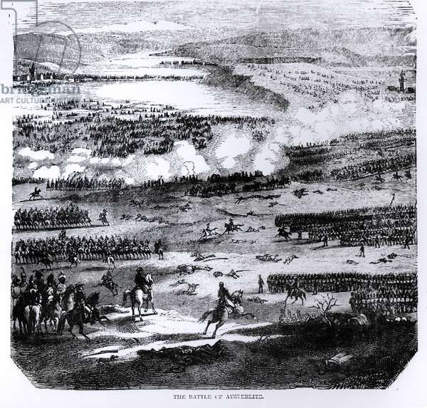 The Battle of Austerlitz, 2 December 1805 (engraving) (b/w photo)