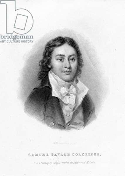 Samuel Taylor Coleridge, engraved by Richard Woodman (engraving)