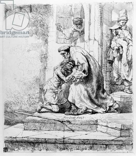 Return of the Prodigal Son, 1636 (etching)