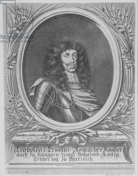 Leopold I, Holy Roman Emperor, engraved by Bartholomaus Kilian II, 1674 (engraving)