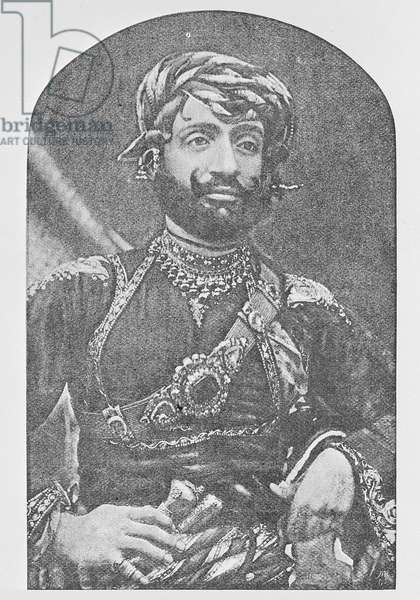 Muhammad Mahabat Khanji II, Nawab Sahib of Junagadh (b/w photo)