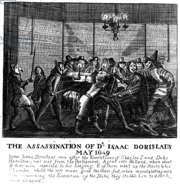 Assassination of Dr Isaac Dorislaus, May 1649 (engraving)