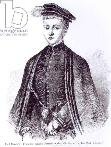 Portrait of Henry Stewart, Lord Darnley (1545-67) (engraving) (b/w photo)