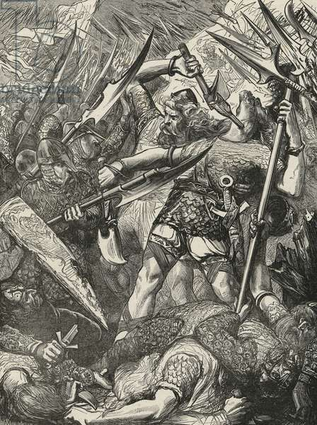 Death of Harold at the Battle of Hastings (engraving)