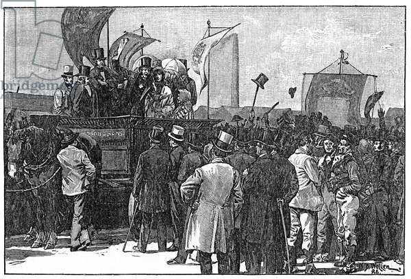 The Chartist Demonstration on Kennington Common, 10th April 1848, 1886 (engraving)
