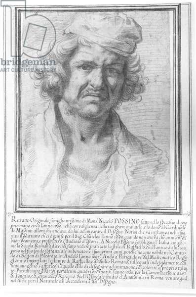 Self Portrait (pencil on paper) (b/w photo)