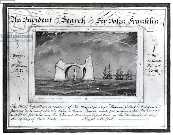 An Incident in the Search for Sir John Franklin, June 4 1854 (graphite and chalk on paper) (b/w photo)