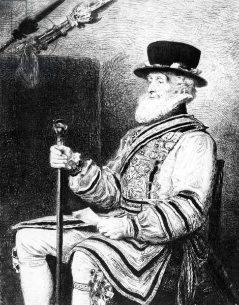 The Yeoman of the Guard, print made by Charles Waltner, 1893 (etching)