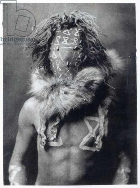 Tobadzischini, a Navajo Indian, 1904 (b/w photo)