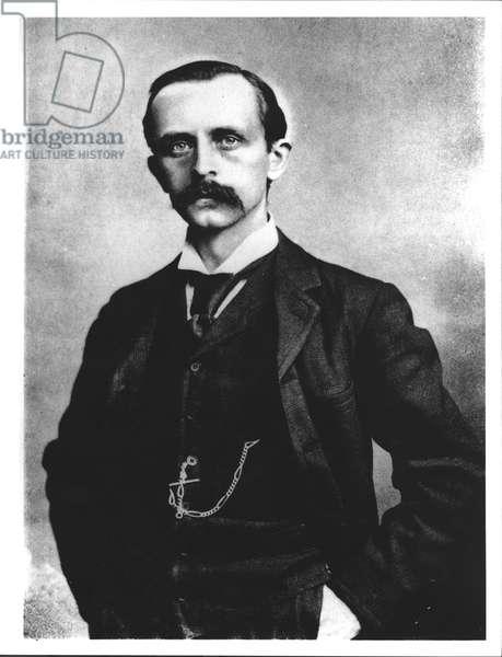 Sir James Matthew Barrie (1860-1937) (b/w photo)