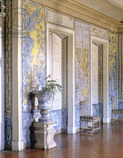 Detail of the tile decoration in the Games Room, 18th century (photo)