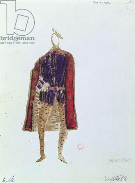 Costume Design for Monterone in the opera 'Rigoletto' by Giuseppe Verdi (1813-1901) 1970 (mixed media)