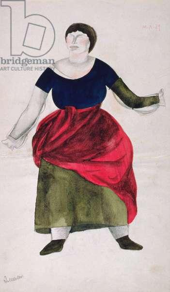 Emilia from the opera 'Otello' by Giuseppe Verdi (1813-1901) (gouache on paper)