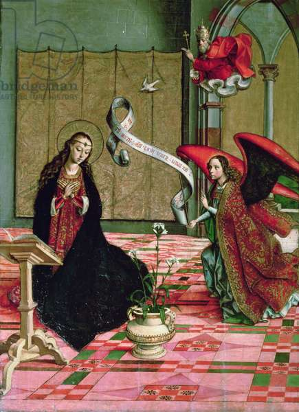 The Annunciation, detail from the Altarpiece of St. Anne and the Virgin