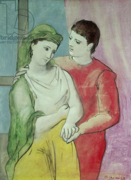The Lovers, 1923 (oil on linen)