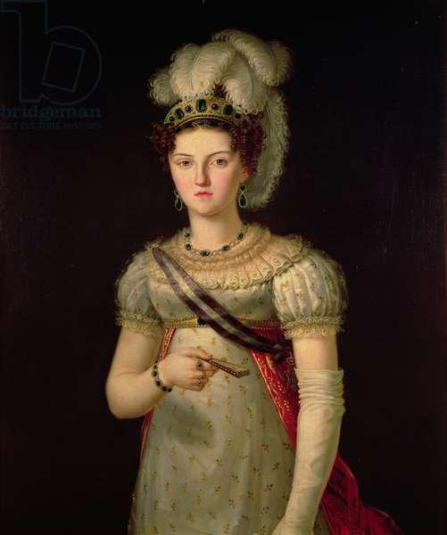 Portrait of Maria Josephine Amalia of Saxony