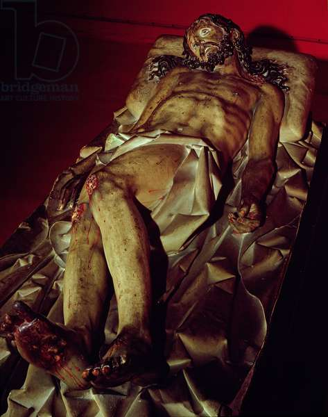 The Dead Christ (polychrome wood)