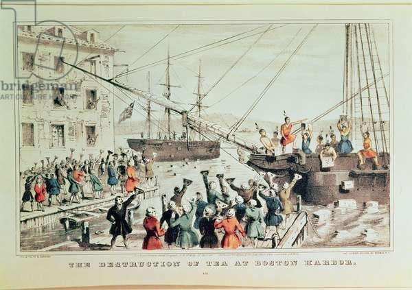 The Boston Tea Party, 1846 (print)
