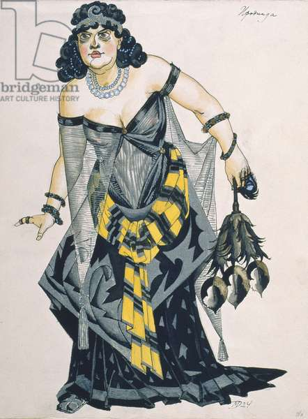 Herodias, from 'Salome', by Richard Strauss (1864-1949) (gouache on paper)