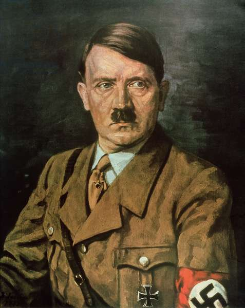 Portrait of Adolf Hitler (1889-1945), 1933 (oil on canvas)