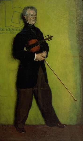 Portrait of the Violinist Larrapide, 1910 (oil on canvas)