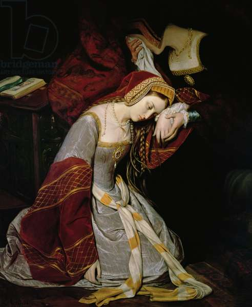 Anne Boleyn (1507-36) in the Tower, detail, 1835 (oil on canvas)