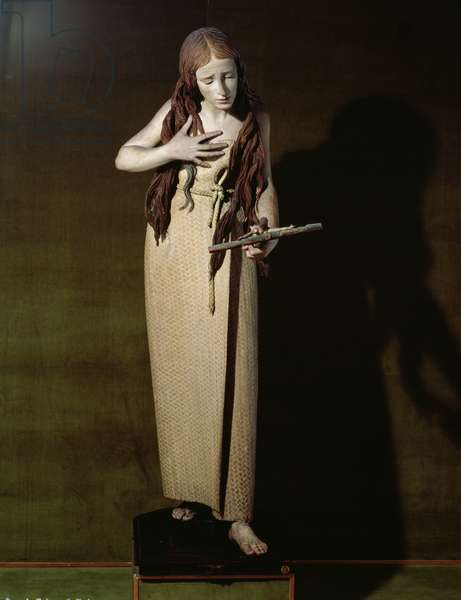 The Penitent Magdalene, 1664 (polychrome wood)