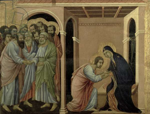 Maesta: The Virgin Says Farewell to St. John, 1308-11