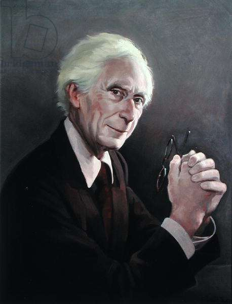 Portrait of Bertrand Russell (1872-1970) (oil on canvas)