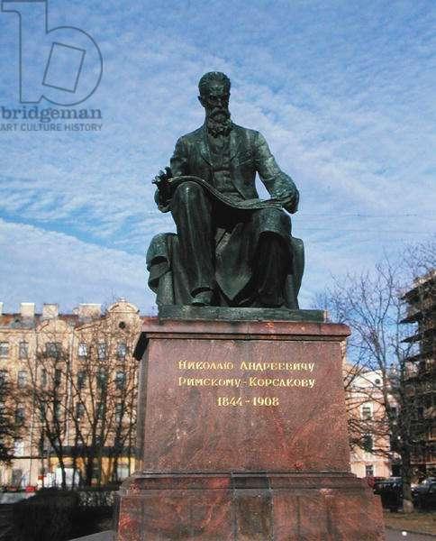 Monument to Nikolai Andreievich Rimsky-Korsakov (1844-1908) (bronze)