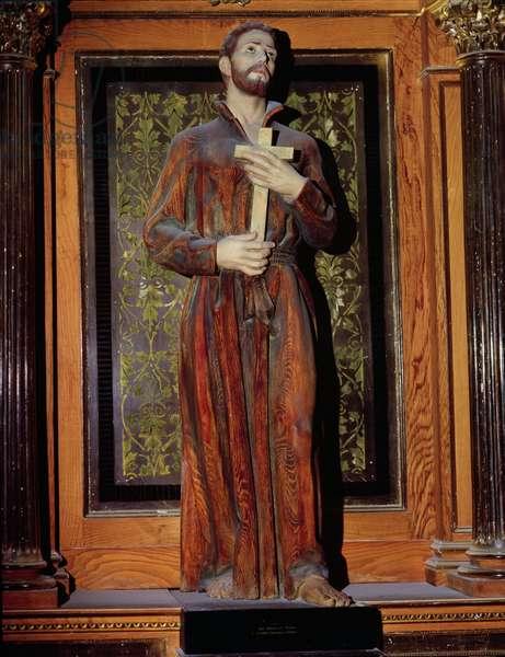 St. Francis Xavier (1506-52) (polychrome wood)