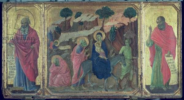 Maesta: Flight into Egypt, 1308-11