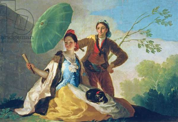 The Parasol, 1777 (oil on canvas)
