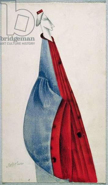Ludovico from the opera 'Otello' by Giuseppe Verdi (1813-1901) (coloured pencil on paper)