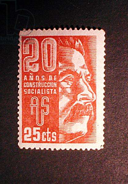 Stamp commemorating 20 years of building socialism