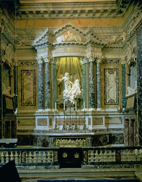 The Cornaro Chapel, view of the altar with 'The Ecstasy of St. Teresa' (photo)